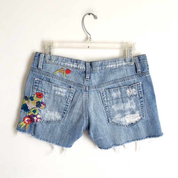 47e3ca168e1aa Joe s Jeans Pants - Joe s Jeans Floral Embroidered Cutoff Jean Shorts